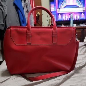 Large Red Lodis tote/work bag